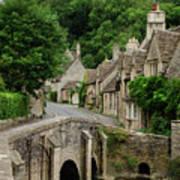 Cotswolds Village Castle Combe Art Print