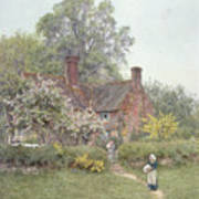 Cottage At Chiddingfold Print by Helen Allingham