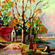Cottage Country The Eastern Townships A Romantic Summer Landscape Art Print by Carole Spandau