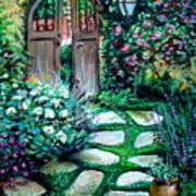 Cottage Gates Art Print