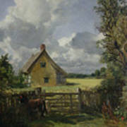 Cottage In A Cornfield Art Print by John Constable