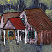Cottage In The Woods Art Print
