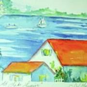 Cottage On Lake Lanier Art Print