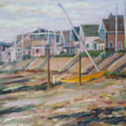 Cottages Along Moody Beach Art Print