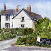 Cottages At Binsey. Nr Oxford Art Print by Mike Lester