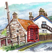 Cottages In Runswick Bay Art Print