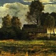 Cottages On The Dachau Marsh 1902 Art Print