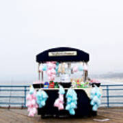 Cotton Candy Carousel- By Linda Woods Art Print