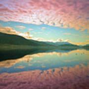 Cotton Candy Clouds At Skaha Lake Art Print