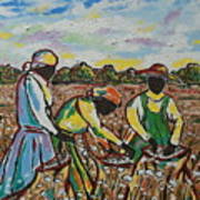 Cotton Pickin Art Print