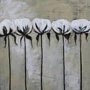 Cotton Row In Neutral Art Print