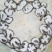 Cotton Wreath Art Print