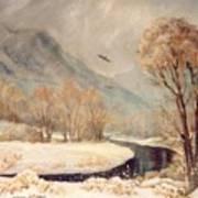 Cottonwood Winter Art Print