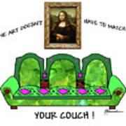 Couch Art Art Print