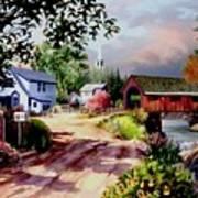 Country Covered Bridge Art Print