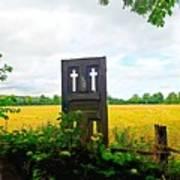 Country Crosses Art Print