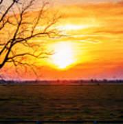 Country Easter Sunrise  Art Print