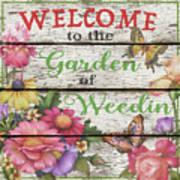Country Garden Sign-e Art Print