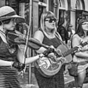 Country In The French Quarter 3 Bw Art Print