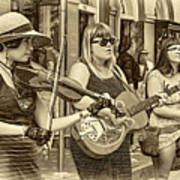 Country In The French Quarter 3 Sepia Art Print