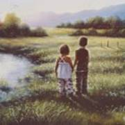 Country Kids Art Print