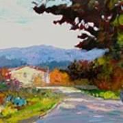 Country Road - Tuscany Art Print