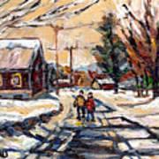 Purchase Best Original Quebec Winter Scene Paintings Achetez  Paysage De Quebec Cspandau Art Art Print