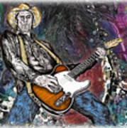 Country Rock Guitar Art Print