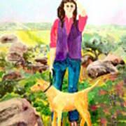 Country Walker Art Print
