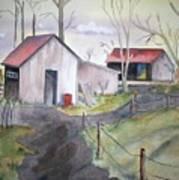 Countryside Dwellings Art Print