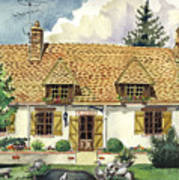 Countryside House In France Art Print