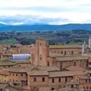 Countryside In Siena Art Print