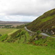 Countryside Road Bends Around Hill Art Print