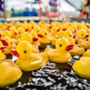 County Fair Rubber Duckies Art Print