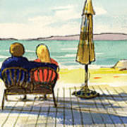 Couple At The Beach Art Print