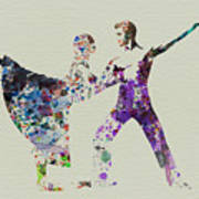 Couple Dancing Ballet Art Print