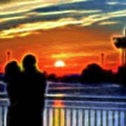 Romantic Sunrise. Art Print