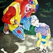 Couple Of Clowns Art Print