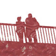Couple On Bridge Art Print
