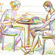 Couple Reading Art Print