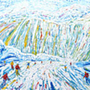 Courchevel Creux Piste Art Print
