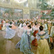 Court Ball At The Hofburg Print by Wilhelm Gause