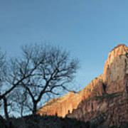Court Of The Patriarchs Sunrise Zion National Park Art Print