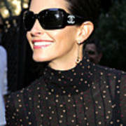 Courteney Cox Wearing Chanel Sunglasses Art Print by Everett