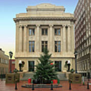 Courthouse At Christmas Art Print