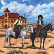 Courthouse Cowboys Art Print