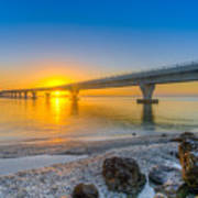 Courtney Campbell Bridge Sunrise - Tampa, Florida Art Print