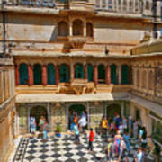 Courtyard, City Palace, Udaipur Art Print