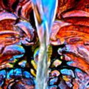 Courtyard Fountain Art Print