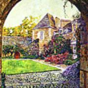Courtyard Impressions Provence Art Print by David Lloyd Glover